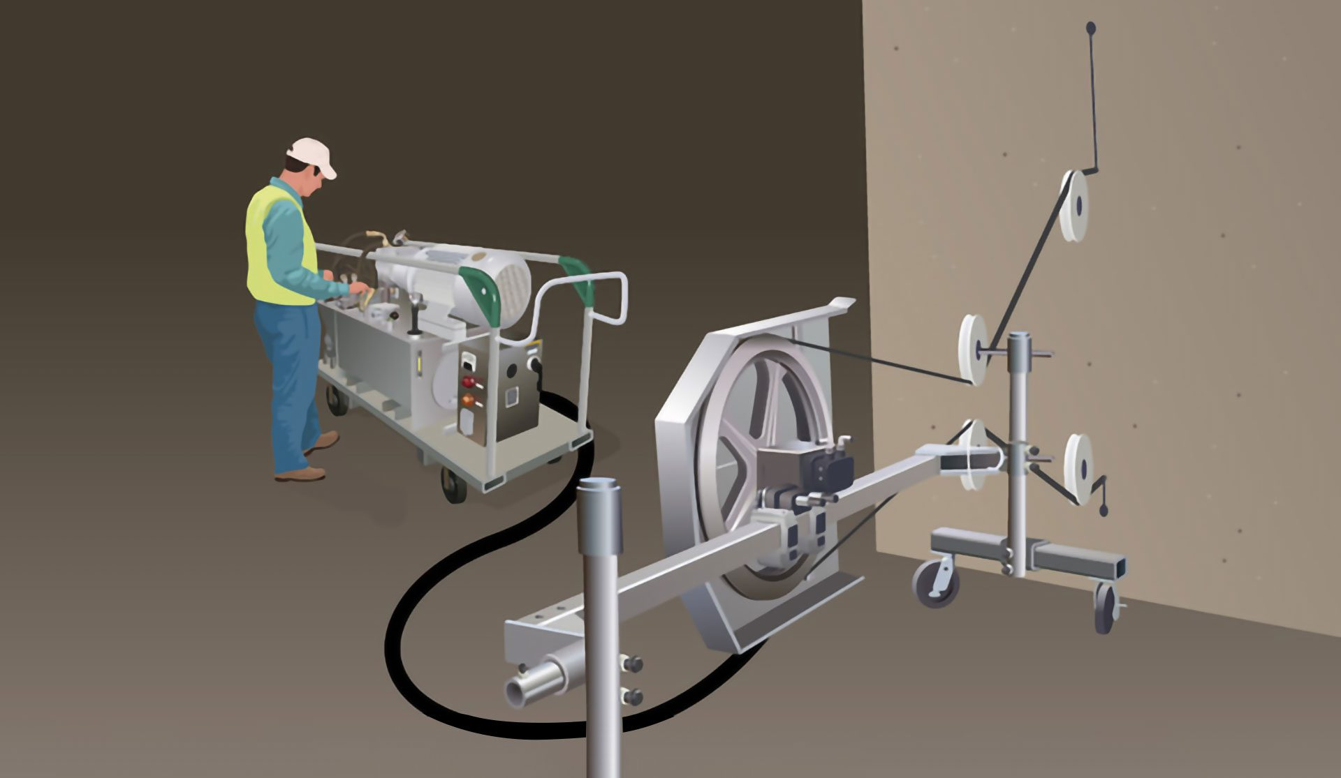 Concrete Wire Sawing Electric Wire Sawing Canwest Concrete